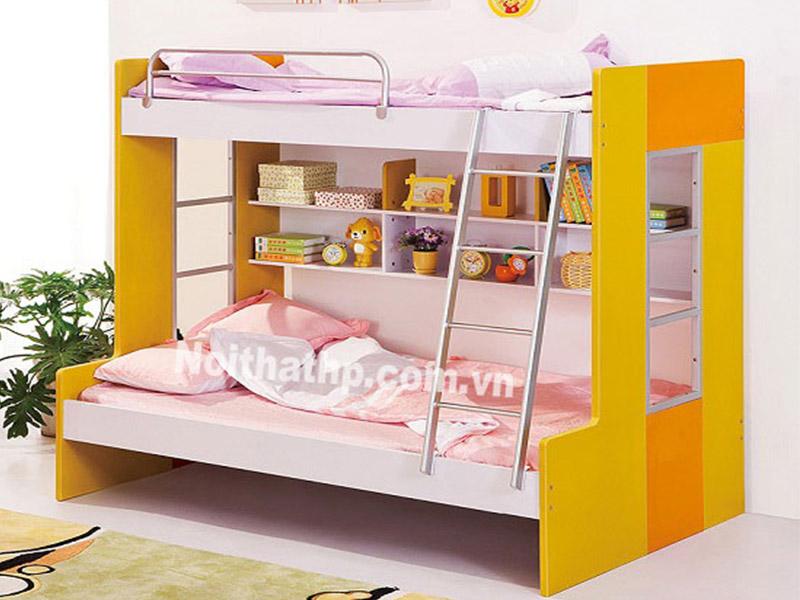 Giường trẻ em 2 tầng kệ sách MS8618