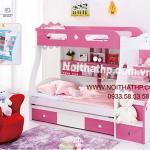 Giường tầng trẻ em giá rẻ đẹp lung kinh MS857