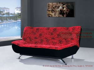 Sofa bed đẹp màu đen đỏ DA03